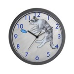 Disc Dog Missed It Wall Clock