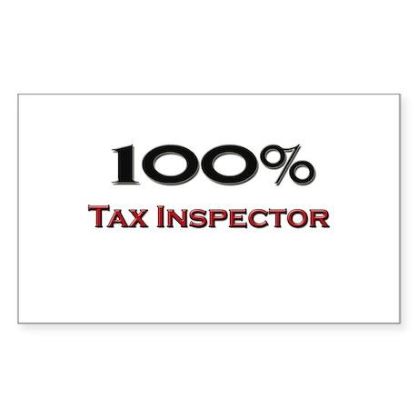 100 Percent Tax Inspector Rectangle Sticker