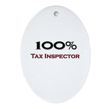 100 Percent Tax Inspector Oval Ornament