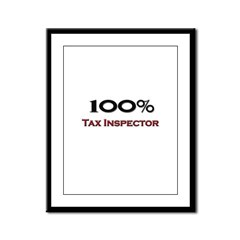 100 Percent Tax Inspector Framed Panel Print