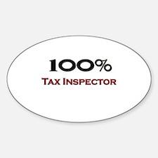 100 Percent Tax Inspector Oval Decal