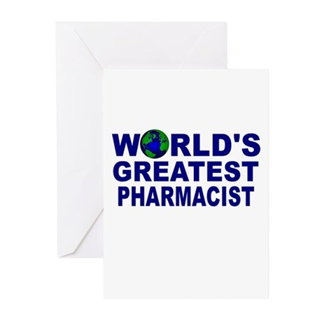 World's Greatest Pharmacist Greeting Cards (Pk of