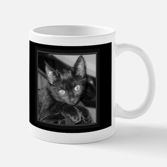 Cute Black Kitty Dark Mug