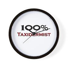 100 Percent Taxidermist Wall Clock