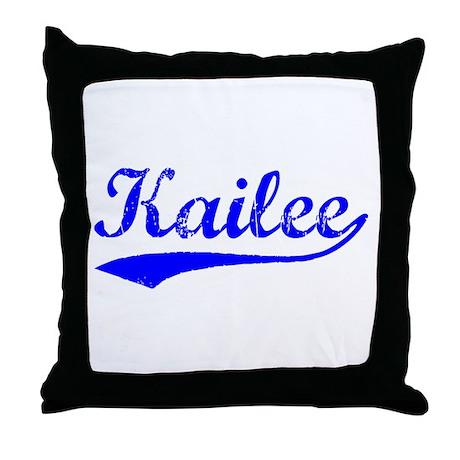 Vintage Kailee (Blue) Throw Pillow