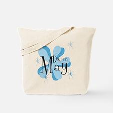 Due In May Retro Splat Tote Bag