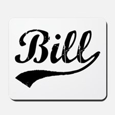 Vintage Bill (Black) Mousepad