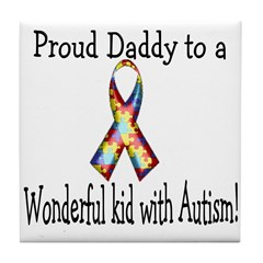 proud Dad! Tile Coaster