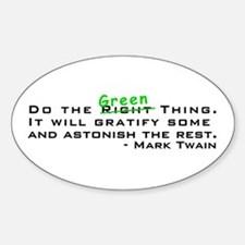Do the Green Thing Oval Decal