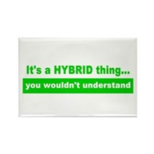 It's a HYBRID thing... Rectangle Magnet