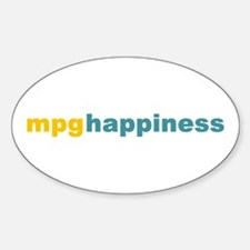 mpg happiness Oval Decal