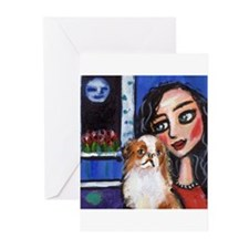 Japanese Chin Greeting Cards (Pk of 10)