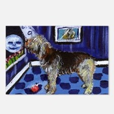 OTTERHOUND whimsical art! Postcards (Package of 8)