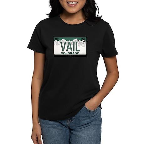 Vail License Plate Women's Dark T-Shirt
