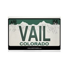 Vail License Plate Rectangle Magnet