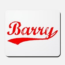Vintage Barry (Red) Mousepad