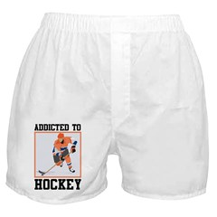 Addicted To Hockey Boxer Shorts