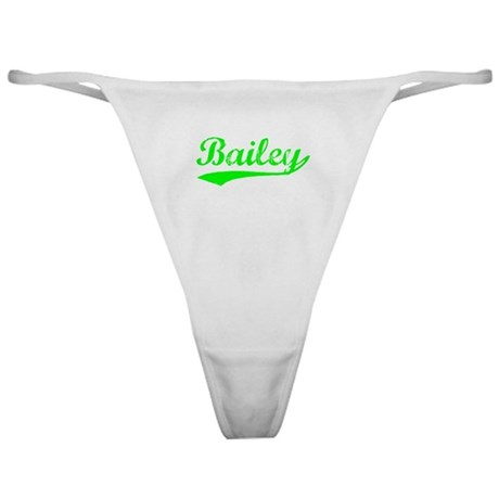 Vintage Bailey (Green) Classic Thong
