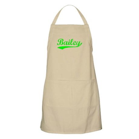 Vintage Bailey (Green) BBQ Apron