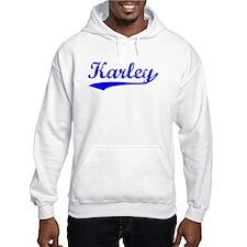 Vintage Karley (Blue) Hoodie Sweatshirt