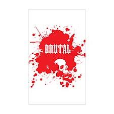 Brutal Blood Rectangle Decal