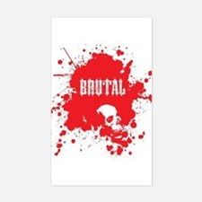 Brutal Blood Rectangle Decal