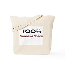 100 Percent Swimming Coach Tote Bag