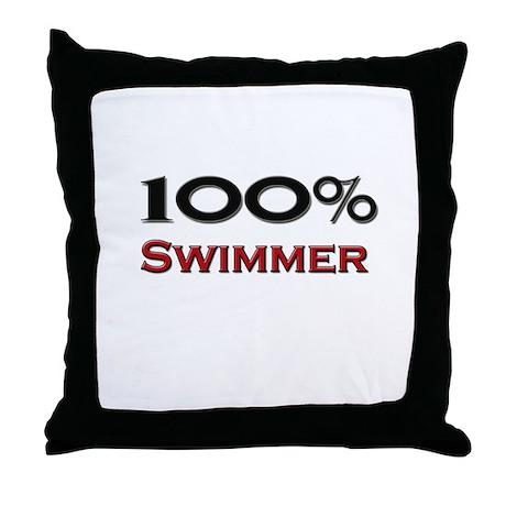 100 Percent Swimmer Throw Pillow