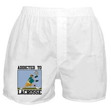 Addicted To Lacrosse Boxer Shorts