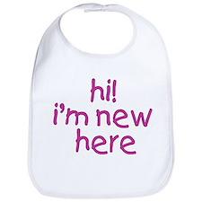 im new here-girl Bib