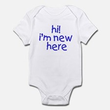 im new here-boy Infant Bodysuit