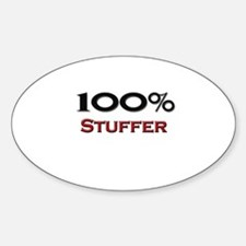 100 Percent Stuffer Oval Decal