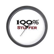 100 Percent Stuffer Wall Clock