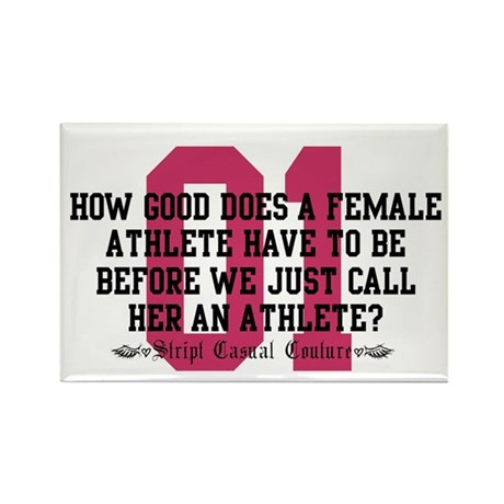 Female Athlete Quote Rectangle Magnet