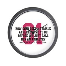 Female Athlete Quote Wall Clock