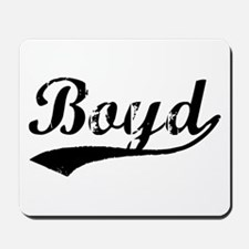 Vintage Boyd (Black) Mousepad