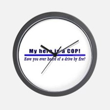 Drive By Fire COP Gift Wall Clock