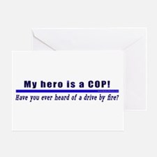 Drive By Fire COP Gift Greeting Card