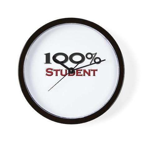 100 Percent Student Wall Clock