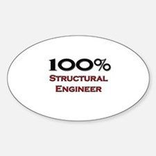 100 Percent Structural Engineer Oval Decal