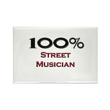 100 Percent Street Musician Rectangle Magnet
