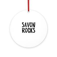 Savon Rocks Ornament (Round)