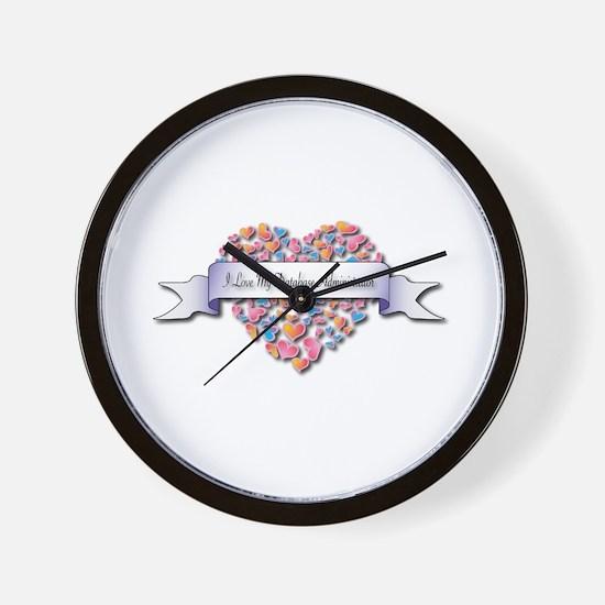 Love My Database Administrator Wall Clock
