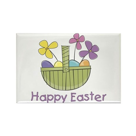 Easter Basket for Girls Rectangle Magnet