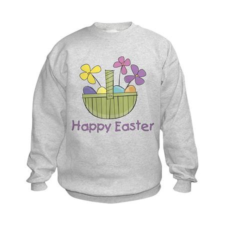Easter Basket for Girls Kids Sweatshirt