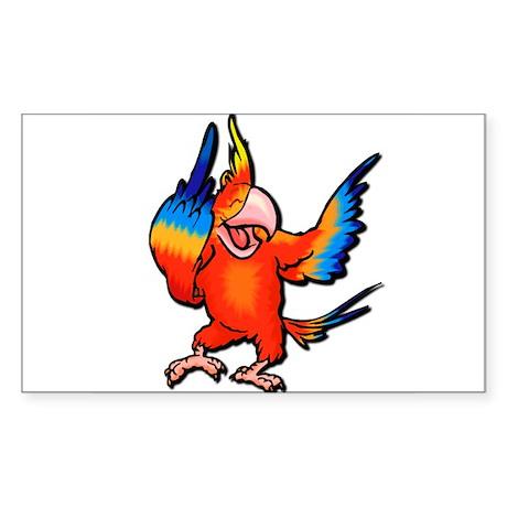 Flipping Bird Parrot Rectangle Sticker