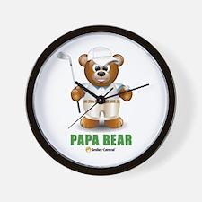 Golfer Dad Bear Wall Clock