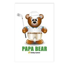Golfer Dad Bear Postcards (Package of 8)