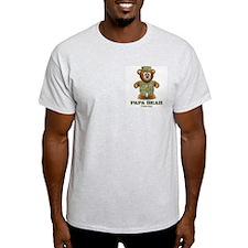 Military Dad Bear Ash Grey T-Shirt