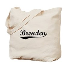 Vintage Brenden (Black) Tote Bag